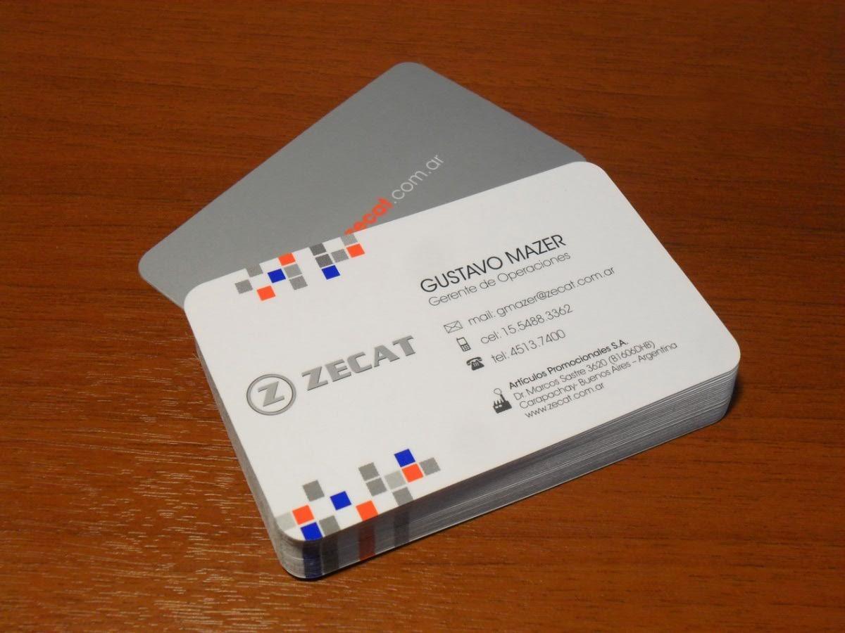 1000 tarjetas de presentación en brillante imprenta b